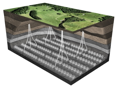 fracking well pads